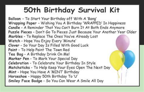 Valentine S Day Gift Ideas by 50th Birthday Survival Kit In A Can