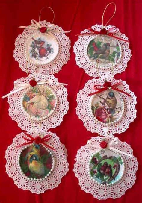 Vintage Handmade Ornaments - handmade vintage style birds card tree