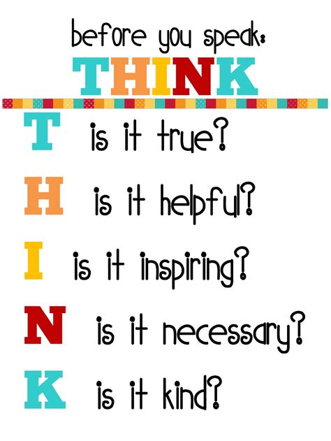 printable think poster before you speak think printable poster and 21 day