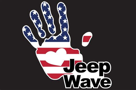 jeep wave sticker jeep wave usa flag 7 inch full color decal the pixel hut