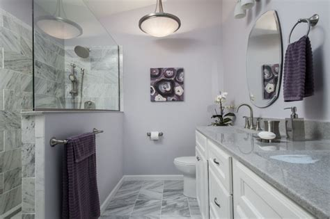 Purple and gray bathroom contemporary bathroom st louis by swat design team for