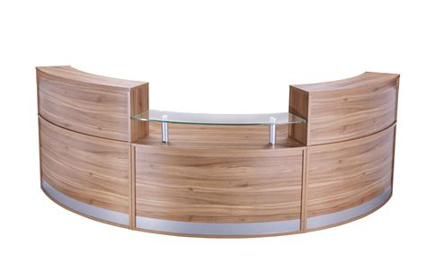 3 Section Reception Counter Office Furniture Solutions 4u Reception Desk Section