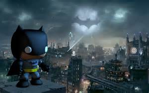 Gotham Lighting Batman Pop Vinyl Style Model Wallpaper By