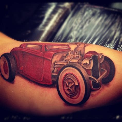 hotrod tattoo rod by cbader on deviantart