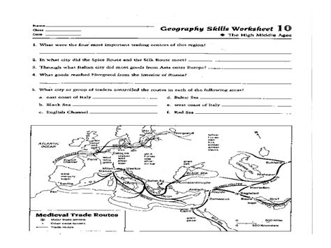 Geography Worksheets High School by Geography Worksheets Images