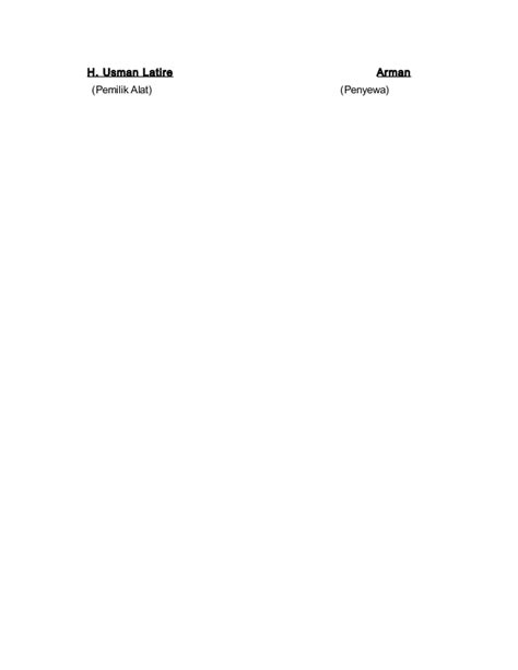 surat perjanjian sewa menyewa alat berat 2
