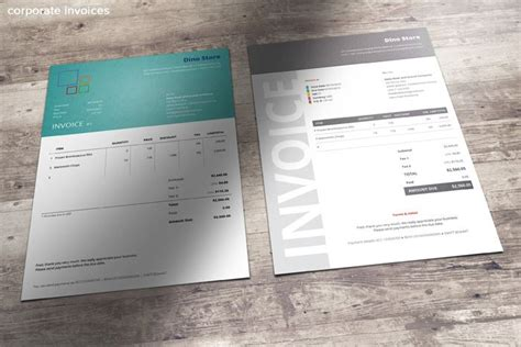 corporate design invoice 5 corporate invoice templates magazine flyer