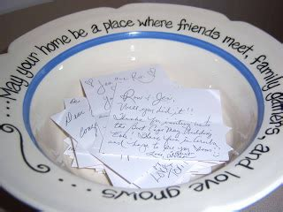 Wedding Blessing Bowl by Noted Finestationery Blessings Wishes For The