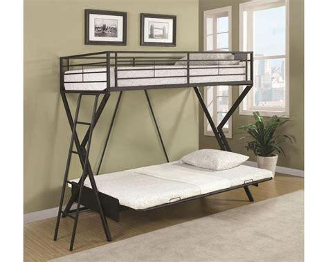 coaster futon bunk bed coaster bunks convertible futon loft bed w futon mattress