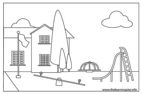 coloring pages school playground image gallery school outline