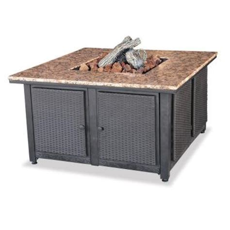 uniflame propane gas pit uniflame bronze and granite propane gas pit with faux