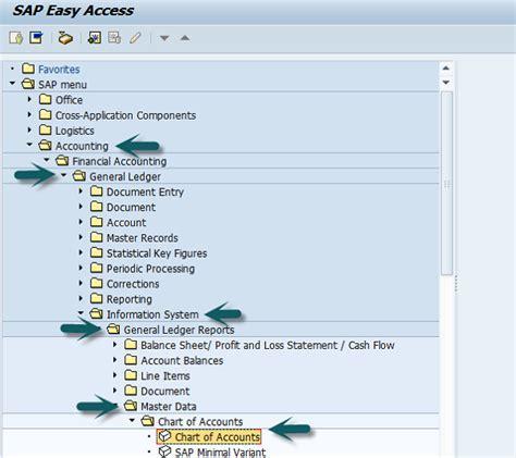 general ledger sap easy access sap fico quick guide