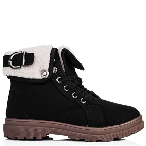 buy raina flat lace up buckle ankle boots black leather
