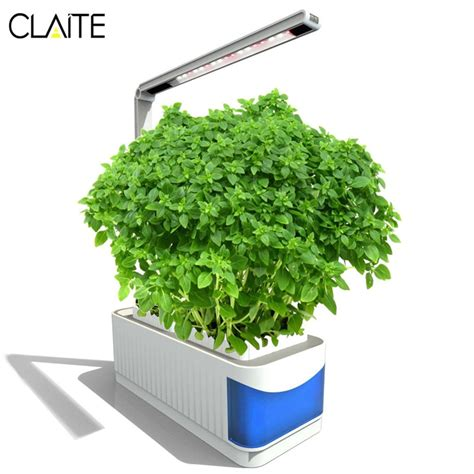 claite led indoor grow lights herb hydroponics plants