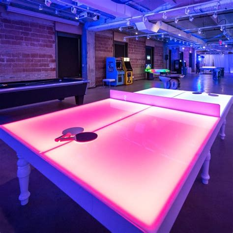 light up ping pong table led ping pong table