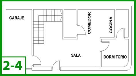 layout en español autocad autocad c 243 mo dibujar un plano de una casa puertas y