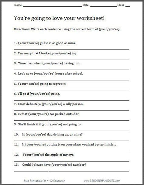 High School Language Arts Worksheets by Worksheet For Grade 2 Students Worksheets
