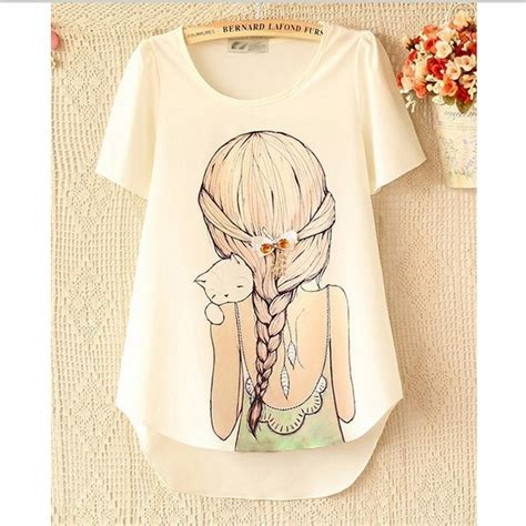 shirt new pattern 2014 new 2014 desigual brand women vintage t shirt pattern girl