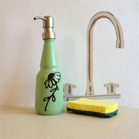 custom  soap dispenser mint green oil  vinegar