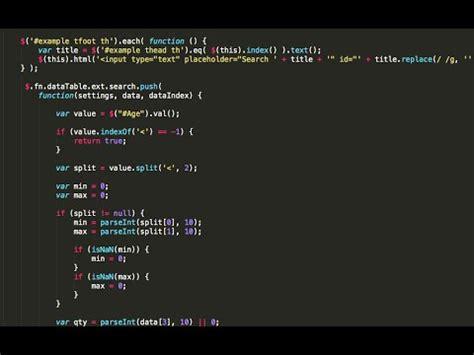 data table plugin jquery data tables plugin custom column search