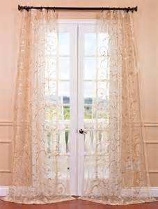 Embroidered Sheer Curtains Gold Embroidered Sheer Curtains Drapes