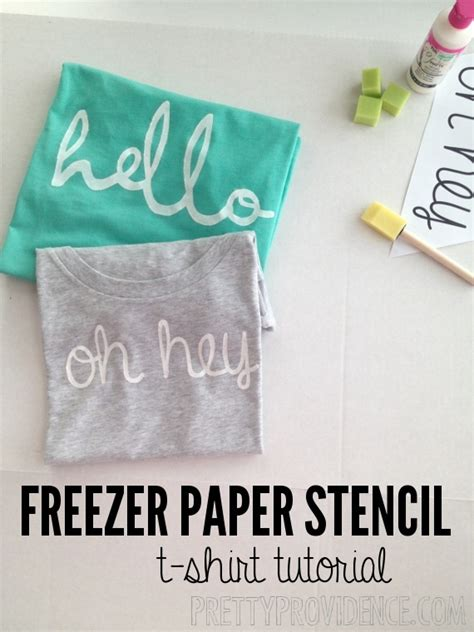 How To Make Stencil Paper - diy freezer paper stencil shirt pretty providence