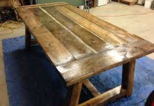 How To Make A Rustic Dining Table White Rustic Farmhouse Table With Distressed Finish Diy Projects