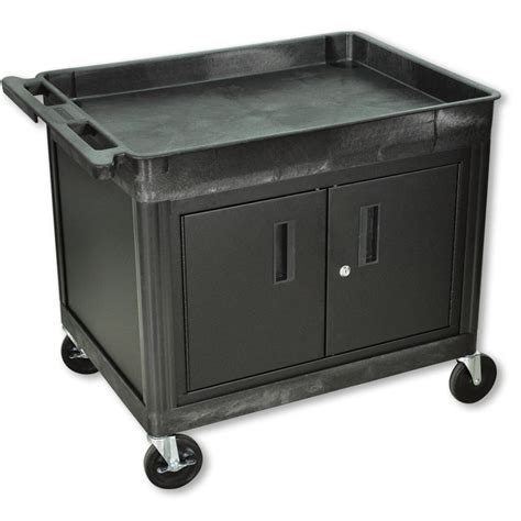 Large Utility Cart with Cabinet   Automotive Service Carts