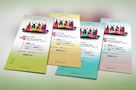 Reggae Jazz Event Ticket Template By Godserv2 Graphicriver Event Ticket Template Photoshop