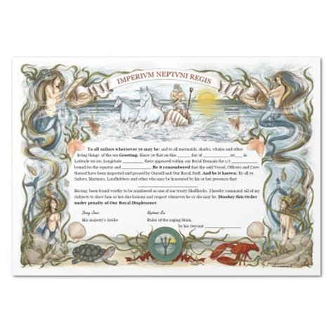 ocean dream equator certificate