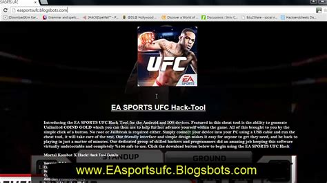 download game android ufc mod ea sports ufc hack ios android cheats no survey no