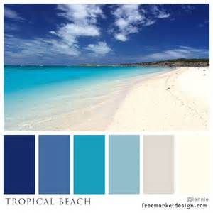 tropical beach color scheme freemarket design