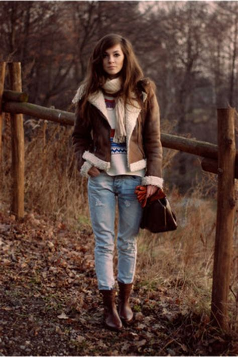 brown leather jacket chictopia