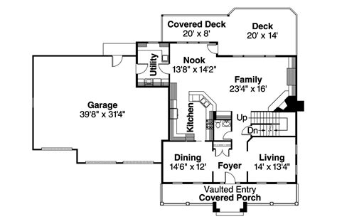 colonial floor plan colonial house plans hanson 30 394 associated designs