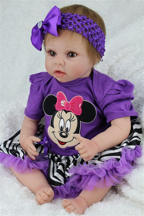 New Dress Baby Dolls High Quality 22 inch lovely baby reborn dolls silicone baby reborn bonecas high quality children