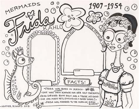 frida kahlo biography book pdf frida kahlo worksheet worksheets for all download and