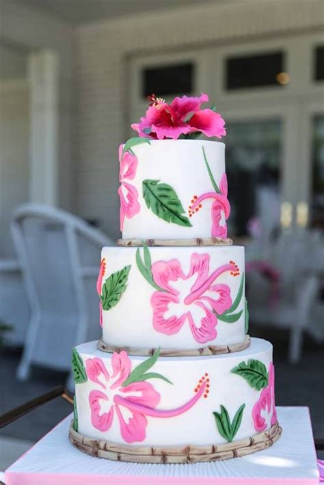 bridal shower cake decorations tropical bridal shower bridal shower ideas themes