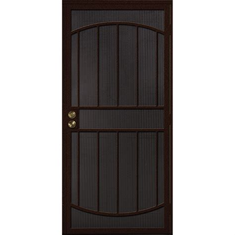 secure door shop gatehouse gibraltar bronze steel security door common 32 in x 81 in actual 35