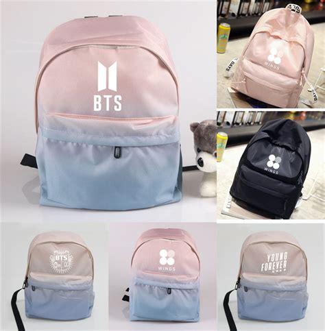 Backpack Btskpop kpop bts backpack bangtan boys logo shoulder bookbag student back to school bag ebay