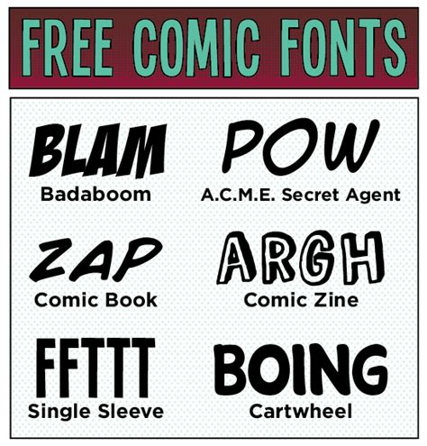 best comic fonts design inspiration free comic fonts busy beaver