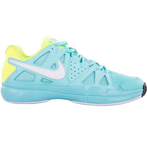 nike air vapor advantage s tennis shoe aqua volt white