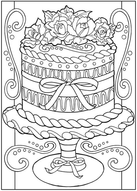 big cake coloring pages large birthday cake coloring pages get coloring pages