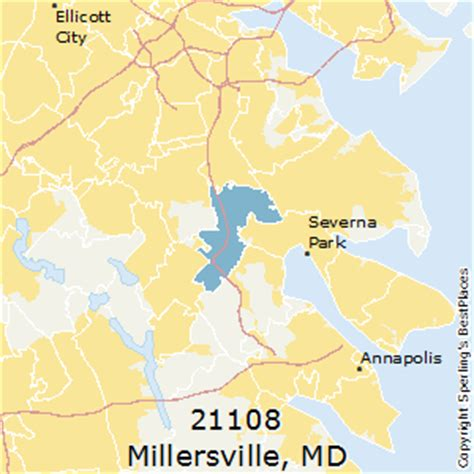 best places to live in millersville (zip 21108), maryland