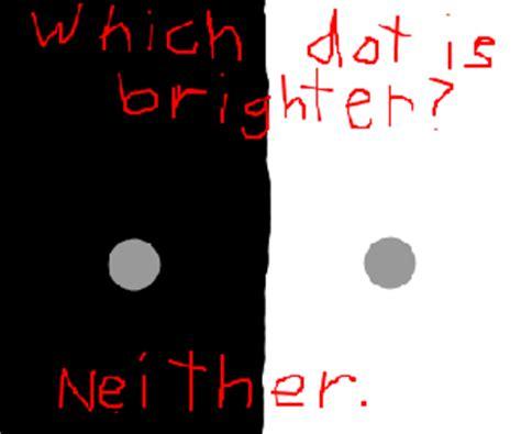 same color illusion a failed optical illusion