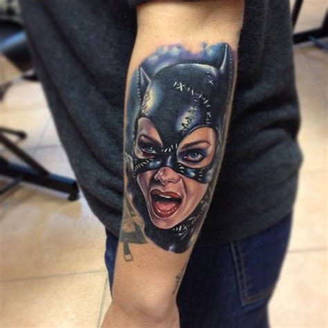 catwoman tattoo by kris busching island ny