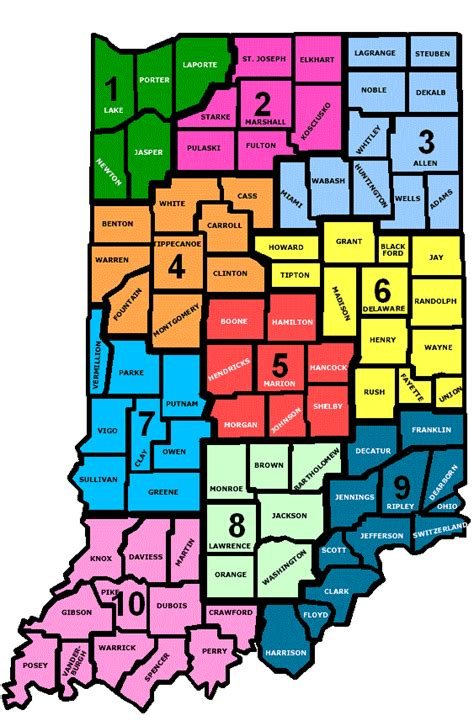 indiana counties map indiana state map with counties