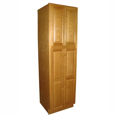 Kitchen Pantry Storage Cabinet Southeast Kitchen Distributors Po Wp2424 Premier Oak Raised Panel Finish Oak Pantry