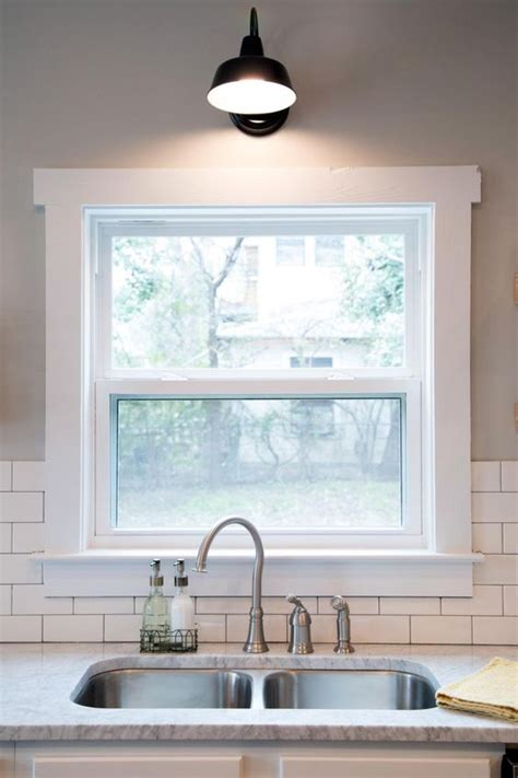 light over kitchen sink window corner plans breakfast nook window casing a house and stainless sink on pinterest