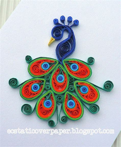 paper craft design 467 best peacock quilled images on
