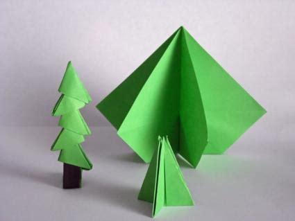 christmas tree paper folding origami tree lovetoknow